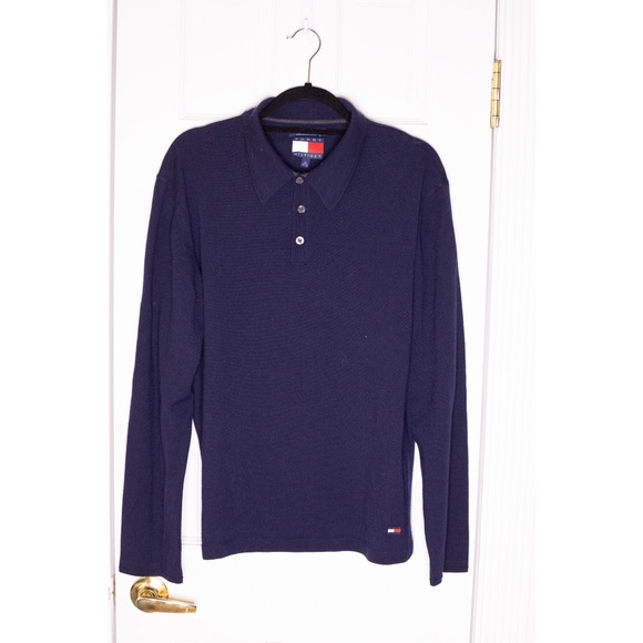 Tommy Hilfiger Other - Vintage TOMMY HILFIGER Wool Polo Rugby Shirt EUC
